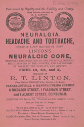 Advert For Linton's Neuralgic Cone
